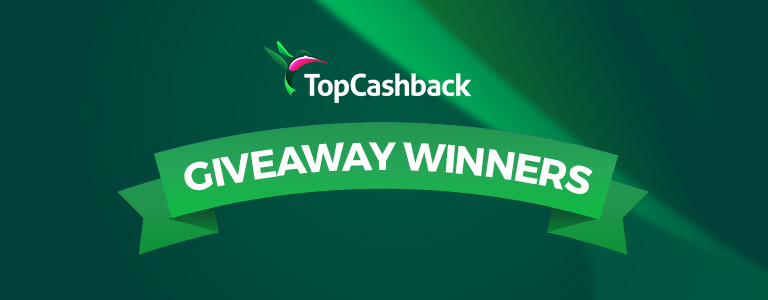 TopCashback Product Giveaway Winner