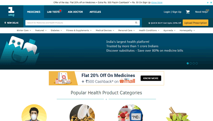 Get the best 1mg offers on heathcare products online at TopCashback