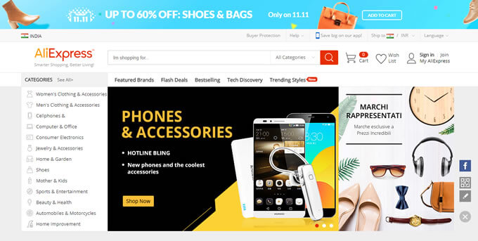 Get the latest AliExpress India online shopping offers on TopCashback