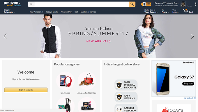 Amazon Home TopCashback India