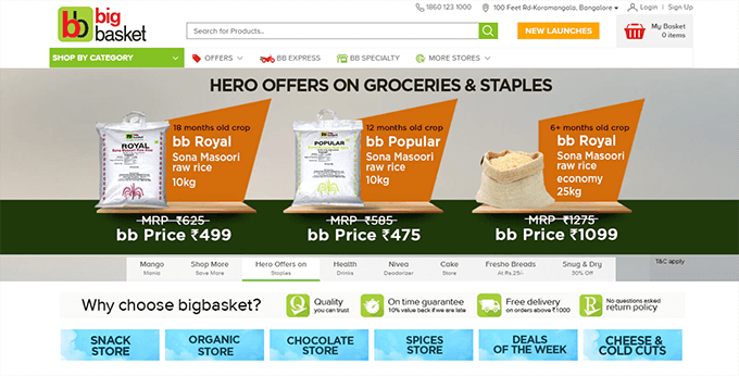Bigbasket Discount Offers and Promo Codes