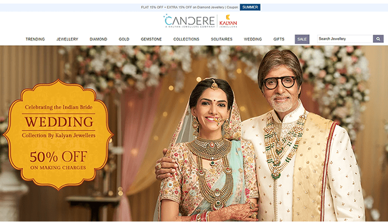 Candere online Jewellery store