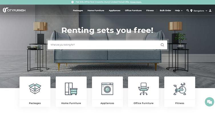 Cityfurnish Furniture rental online