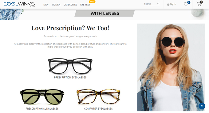 Get the latest Coupons code and Cashback deals on eyewear