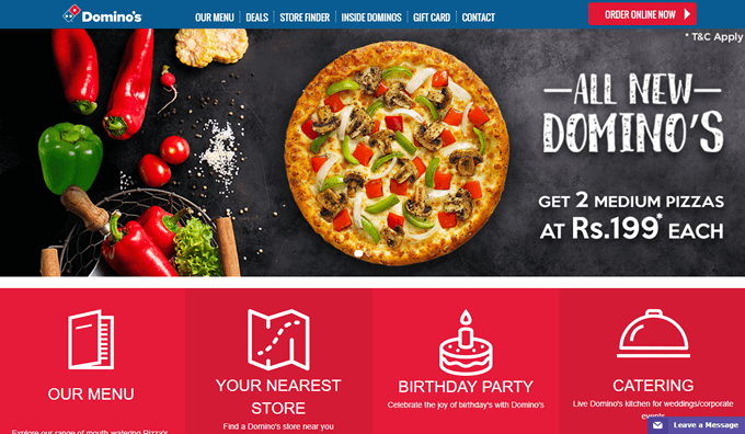 Browse for the best deals and offers on Dominos Pizza online delivery on TopCashback
