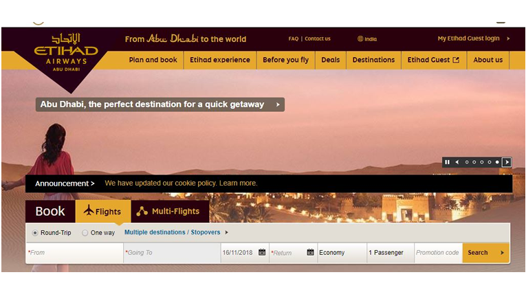 Etihad Airways offers
