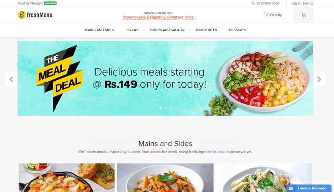 Freshmenu promo codes discount offers and deals