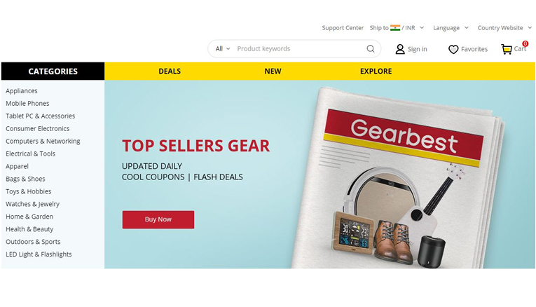 gearbest online shopping india