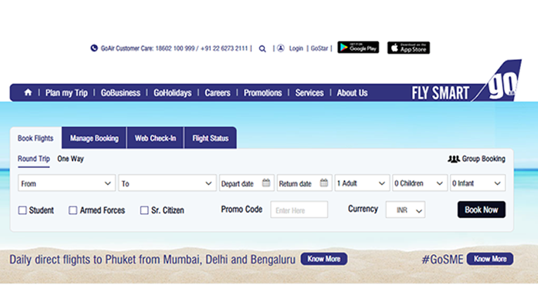 GoAir Flight Booking online