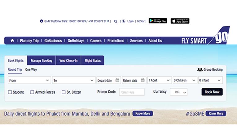 GoAir Flight Booking online