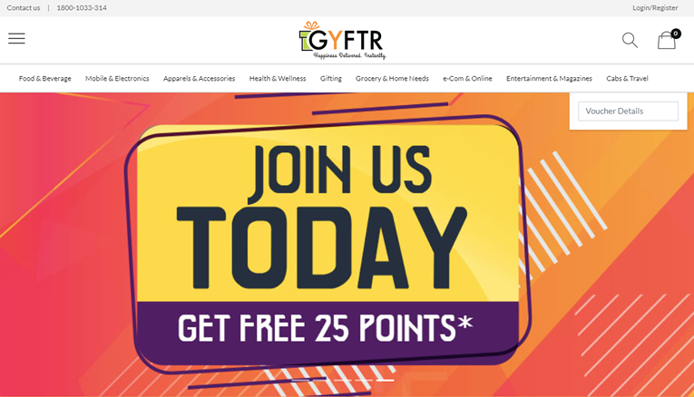 Gyftr Offers, Cashback & Coupons | TopCashback