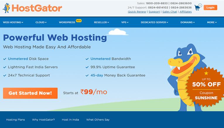 HostGator online