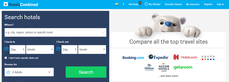Hotels Combined online booking