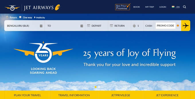 Get Jet Airways discount coupons and promo codes