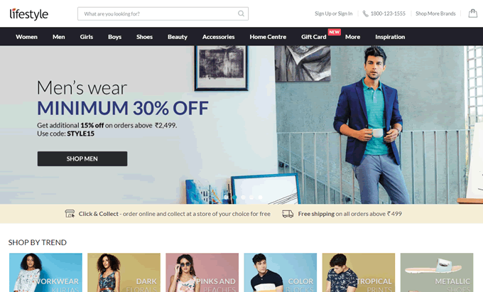 Get the latest Lifestyle stores online shopping discount coupons, promo codes and deals