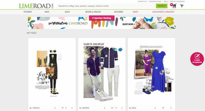 Find the latest LimeRoad online shopping discount coupons for men and women's fashion
