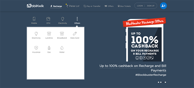 Mobikwik Home TopCashback India