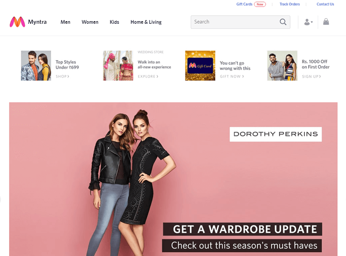 View the Myntra coupon code and promo deals on TopCashback