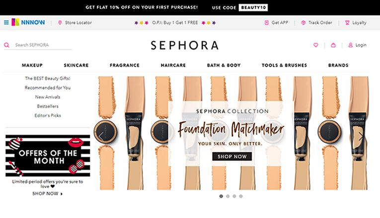 Sephora India online
