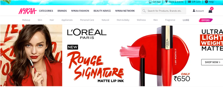 Nykaa Products online
