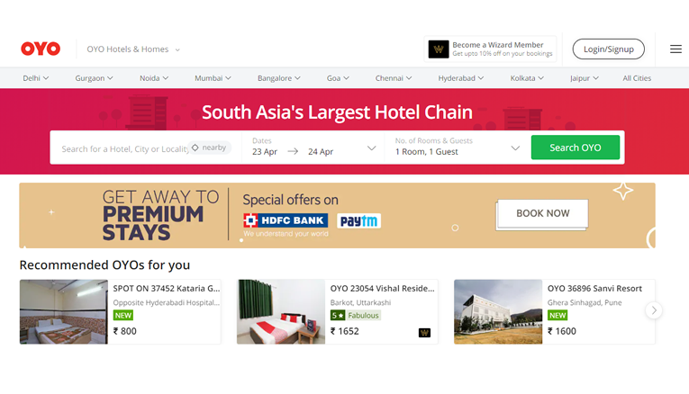 Oyo Rooms Online Booking Offers