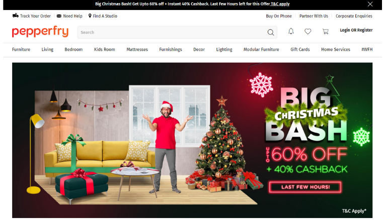 pepperfry Christmas sale