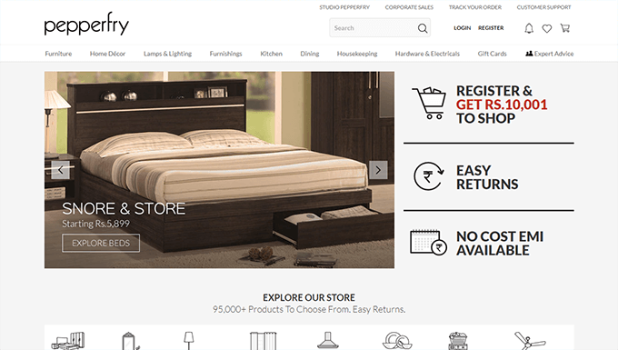 Pepperfry furniture discount coupons and promo code