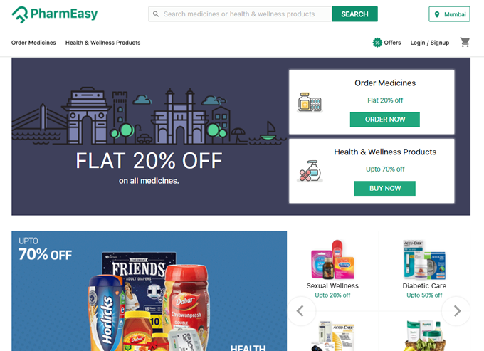Get the latest health care and medicine online order discount coupons and promo deals for Pharmeasy on TopCashback