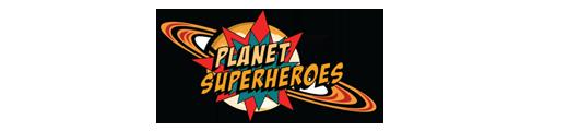 Planet super heroes logo