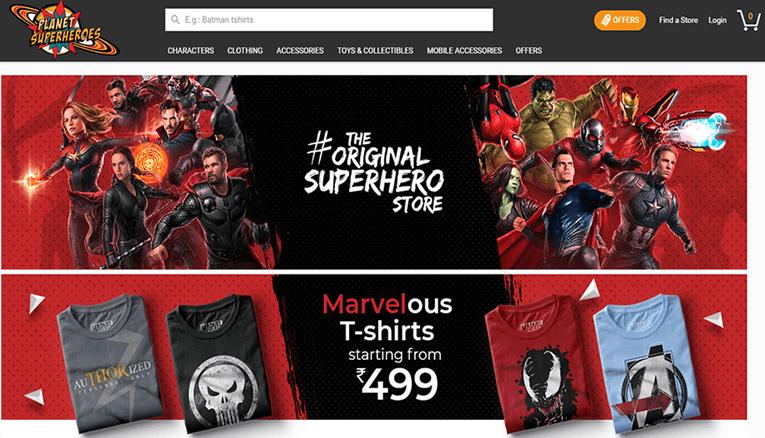 Planet Super Heroes Online Store