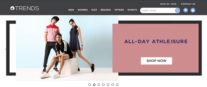 Get the latest Reliance Trends coupons, discount deals on Apparel and Footwear online shopping