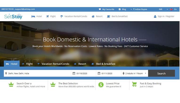 Setstay Online Booking
