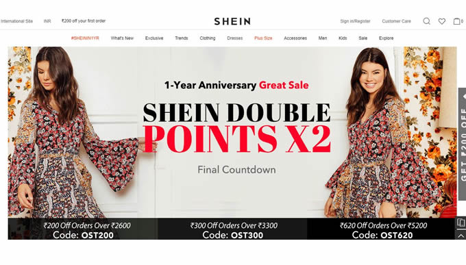 Shein.in Cashback Offers