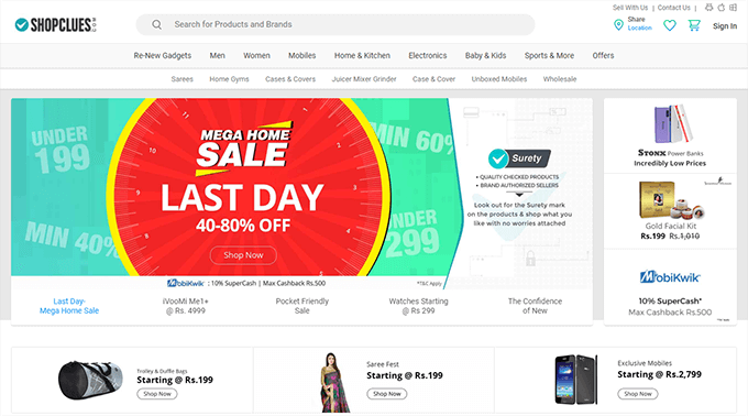 ShopClues Highest Coupons Cashback Offers