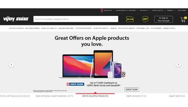 Vijay Sales Online