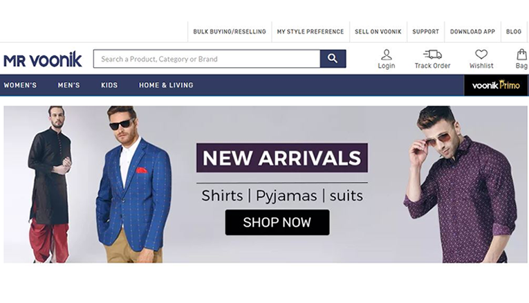 Mr.Voonik online shopping