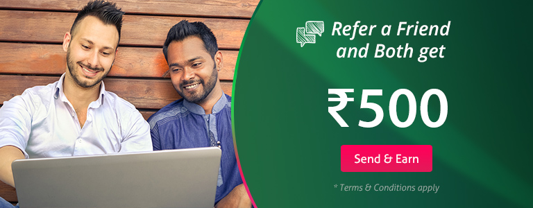 Refer Friends and earn Rs.500