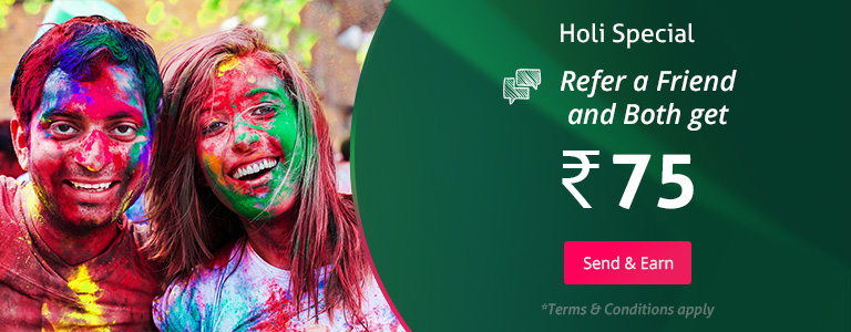 Holi Special you and your friend earn Rs.75